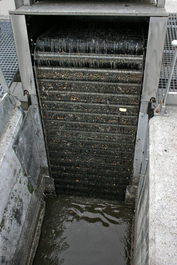 Tratamiento de aguas residuales (escombros) foto de archivo libre de regalías