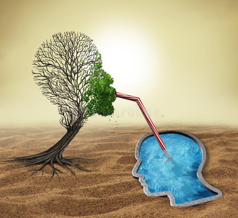 Tratamiento de la psicología stock de ilustración