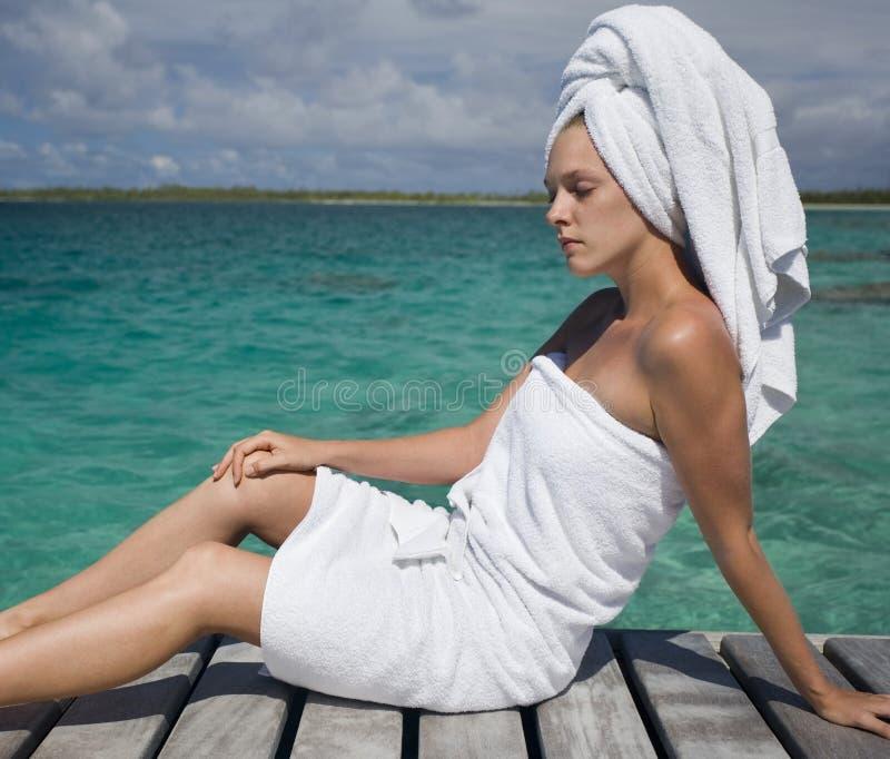 Tratamiento del balneario - vacaciones tropicales imágenes de archivo libres de regalías