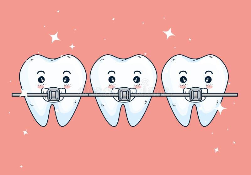 Tratamiento del orthodontist de los dientes a la atención sanitaria de la odontología libre illustration