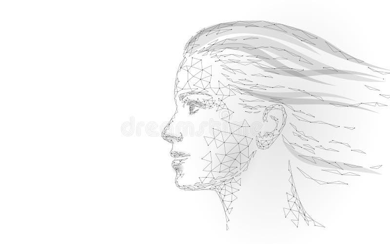 Tratamiento femenino polivin?lico bajo de la piel del laser del rostro humano Cuidado del sal?n de belleza del procedimiento del  ilustración del vector
