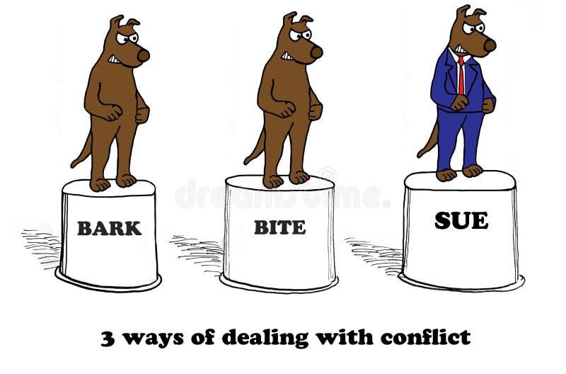 Tratar o conflito ilustração stock