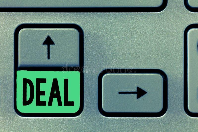 Trato conceptual de la demostración de la escritura de la mano El texto de la foto del negocio participa en el comercio comercial foto de archivo libre de regalías