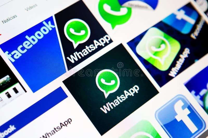 Trato de Facebook WhatsApp fotografía de archivo libre de regalías