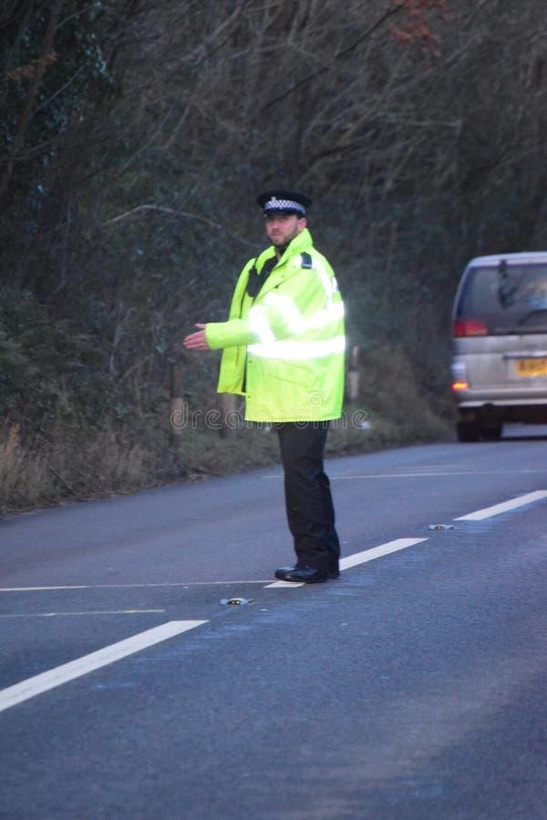 Trato de la policía de Devon y de Cornualles con el RTC foto de archivo libre de regalías