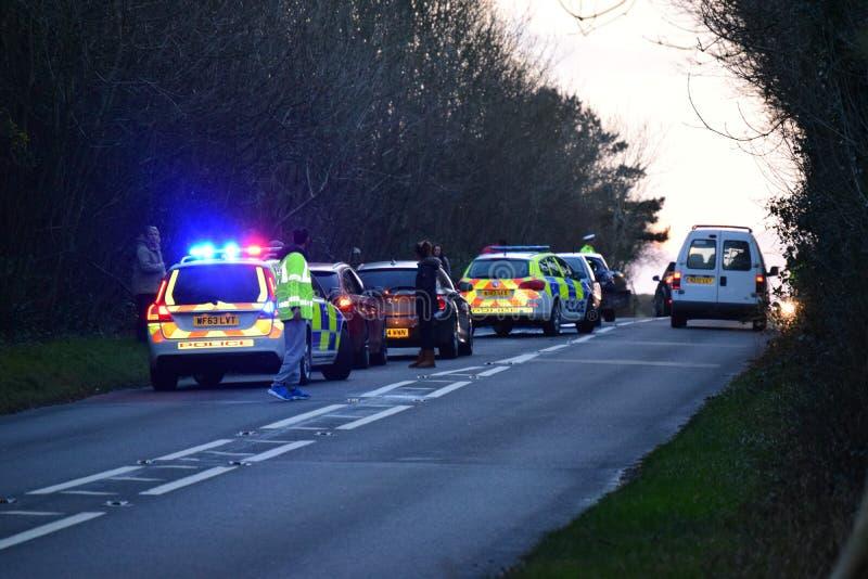 Trato de la policía de Devon y de Cornualles con el RTC fotografía de archivo libre de regalías