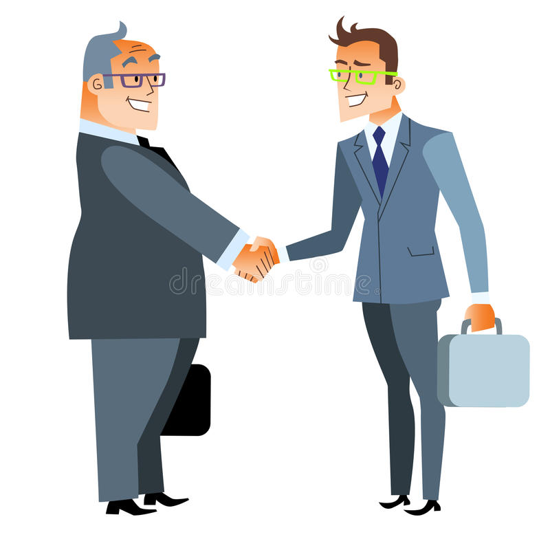Trato del apretón de manos del negocio Finanzas y contrato ilustración del vector