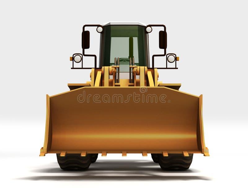 Trator amarelo ilustração stock