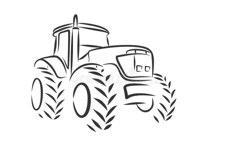 Trator do logotipo ilustração stock