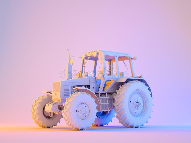 Trator genérico agrícola ilustração stock