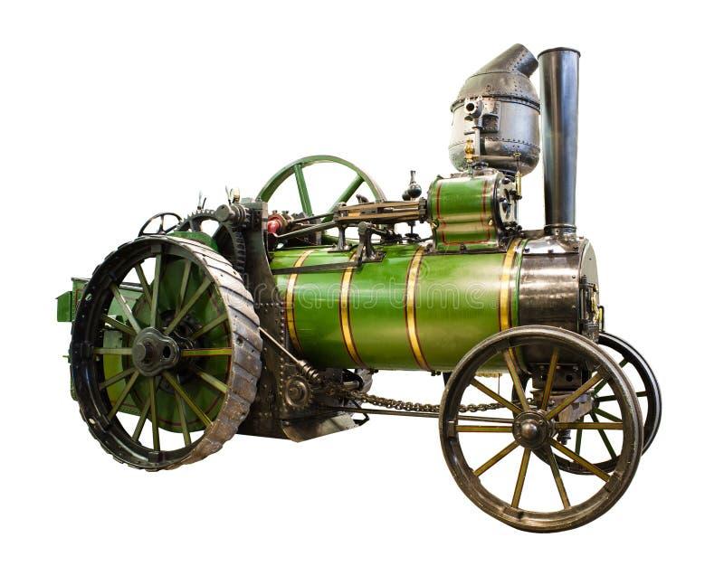 Trator velho com motor de vapor fotos de stock royalty free
