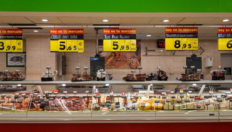 Tratos de la venta del supermercado foto de archivo