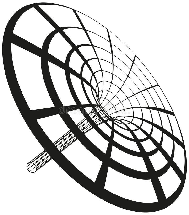 Tratt för svart hål royaltyfri illustrationer