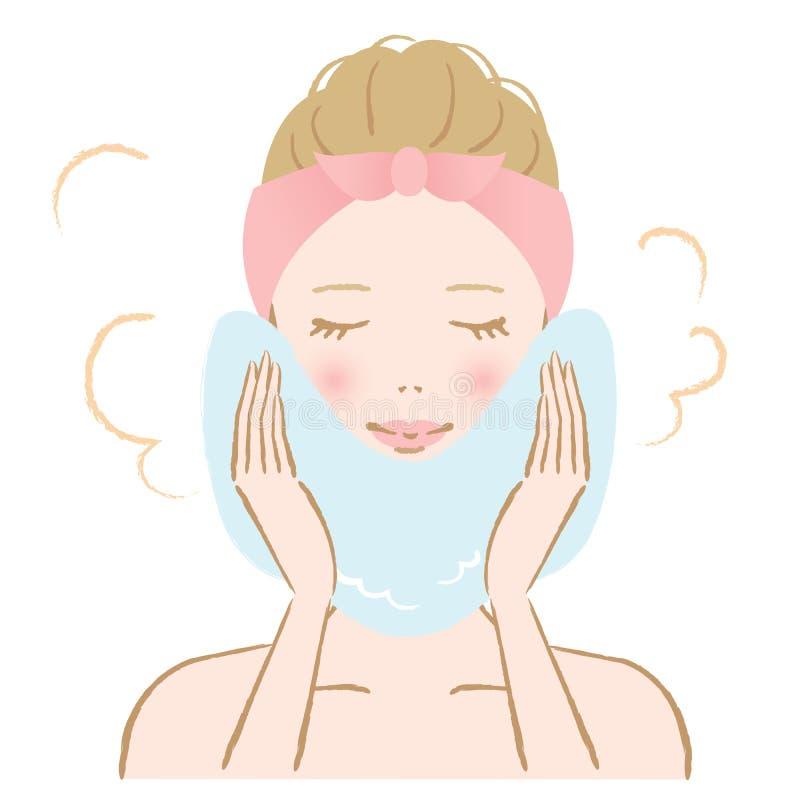 Trattamento caldo dell'asciugamano della donna royalty illustrazione gratis