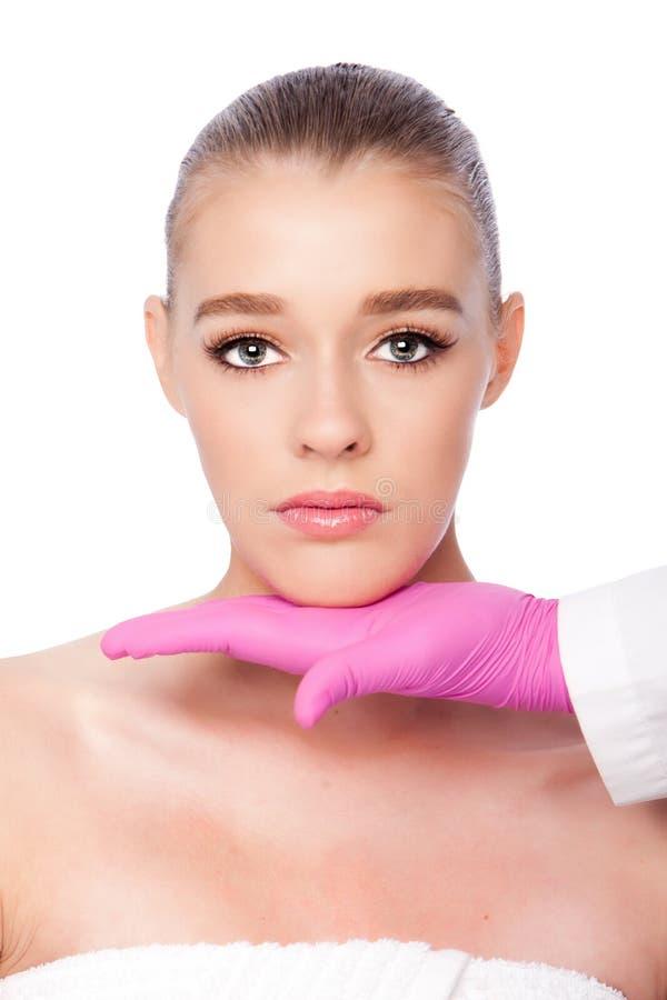 Trattamento cosmetico di bellezza della stazione termale dello skincare immagine stock