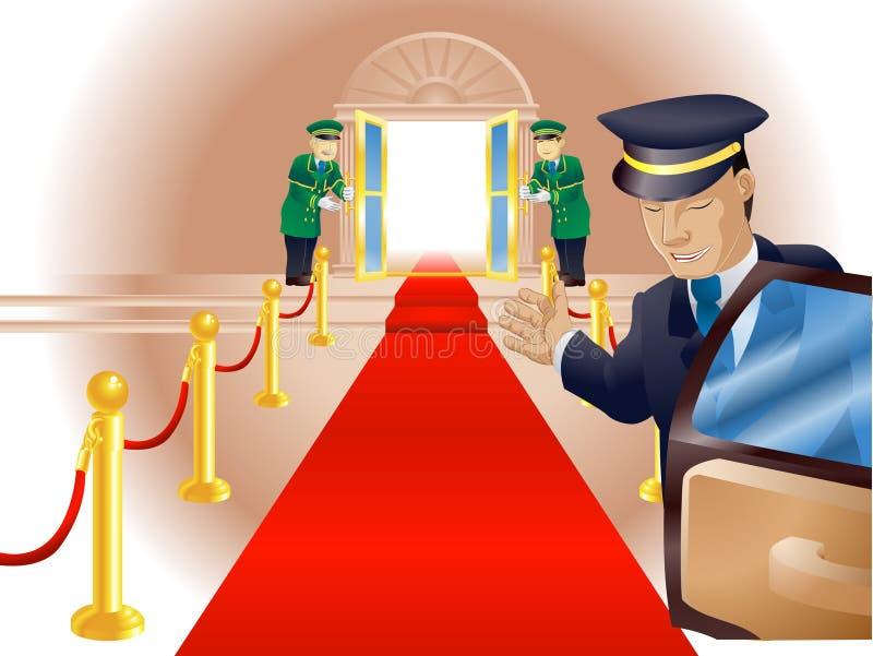 Trattamento del tappeto rosso di VIP royalty illustrazione gratis