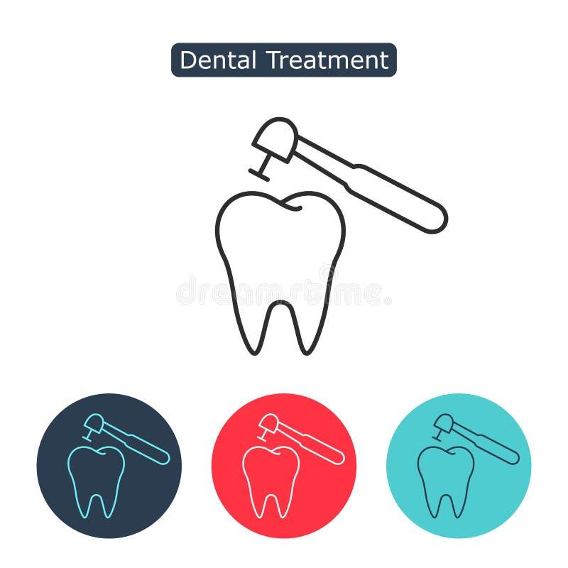 Trattamento dell'icona del dente royalty illustrazione gratis