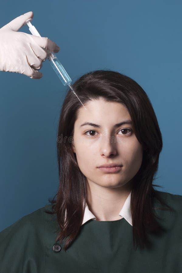 Trattamento di Botox fotografia stock libera da diritti