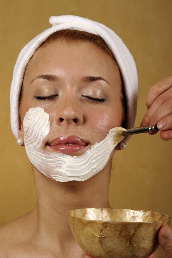 Trattamento facciale di Skincare della mascherina della stazione termale immagini stock