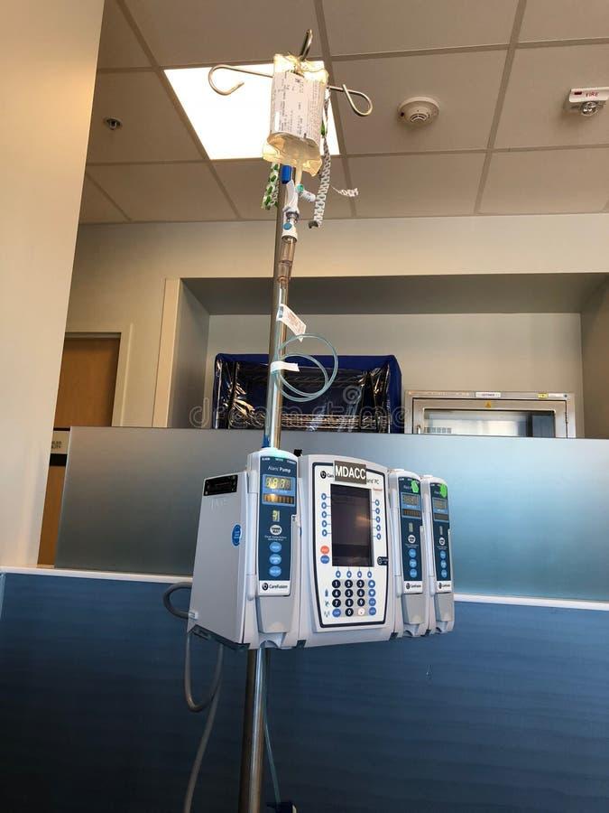 Trattamento intermittente di Chemothertapy fotografie stock