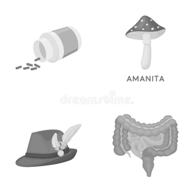 Trattamento, tessuti, affare e l'altra icona di web nello stile monocromatico organo, essere umano, intestini, icone nella raccol royalty illustrazione gratis