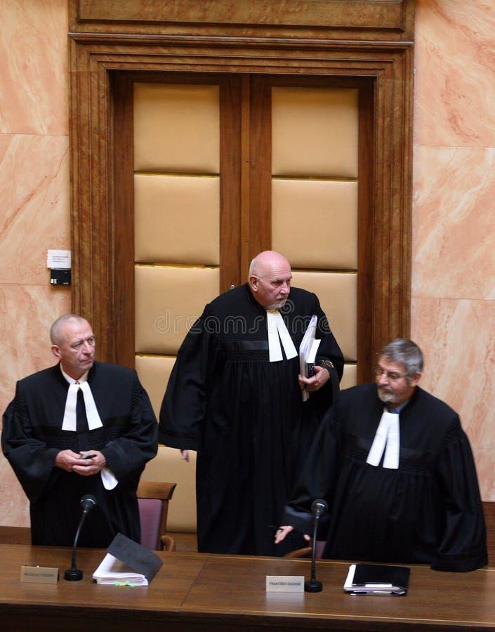 Trattato di Lisbona sulla corte costituzionale ceca fotografie stock libere da diritti