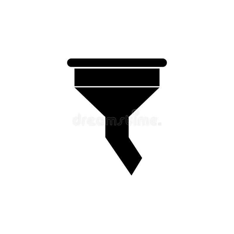 Trattfiltersymbol royaltyfri illustrationer