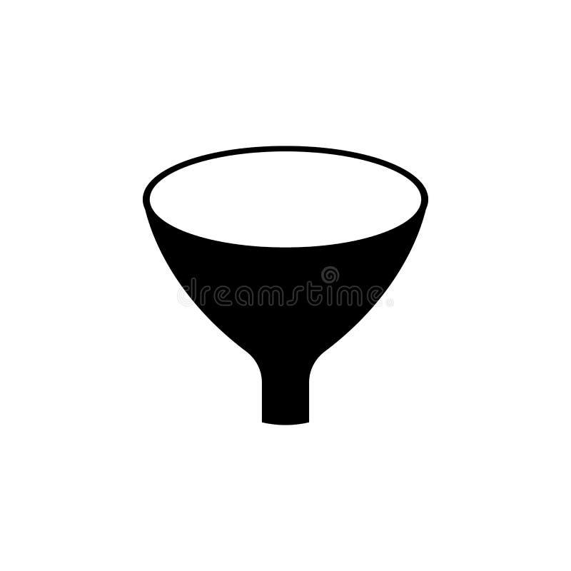 Trattfiltersymbol Tecknet och symboler kan användas för rengöringsduken, logoen, den mobila appen, UI, UX royaltyfri illustrationer