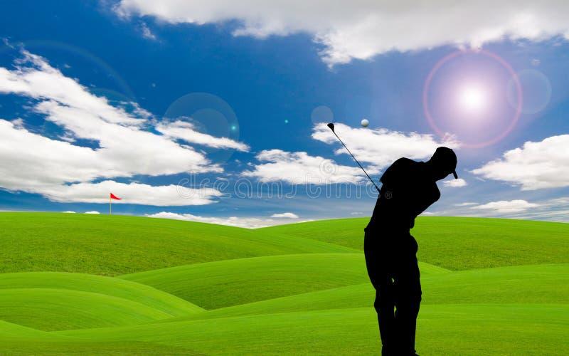 Tratto navigabile di golf immagine stock