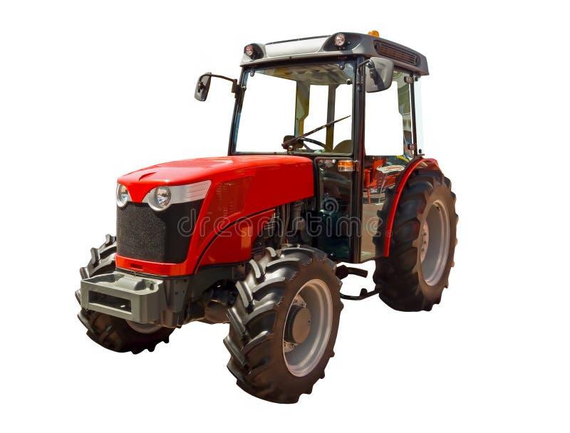 Trattore agricolo rosso fotografie stock