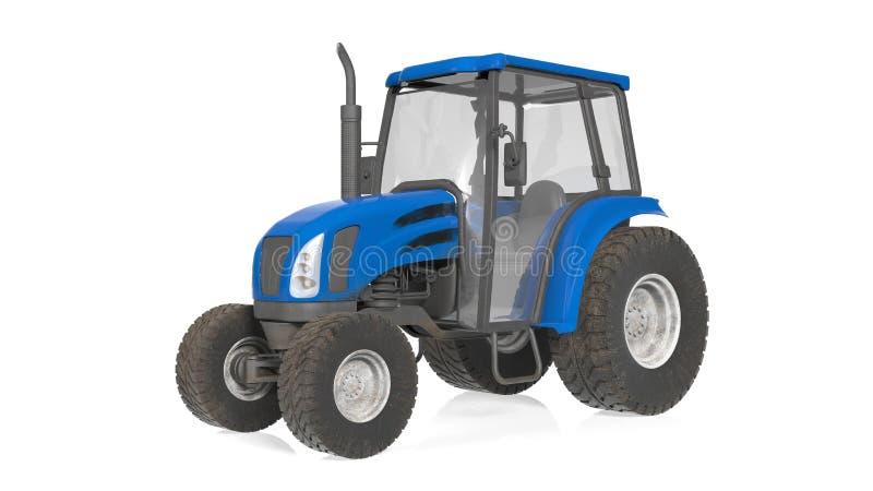 Trattore, attrezzatura agricola, veicolo isolato su bianco illustrazione vettoriale