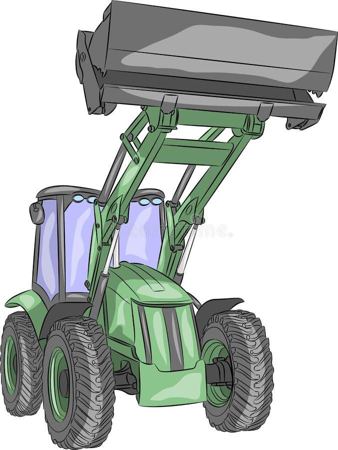 Trattore a ruote vettore illustrazione di stock