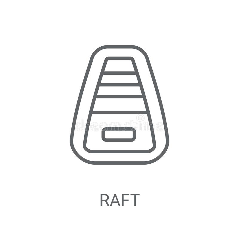Tratwy ikona Modny tratwa logo pojęcie na białym tle od Nau ilustracji
