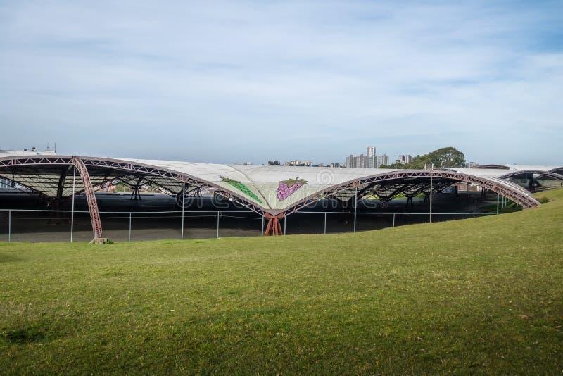 Traube Festa DA Uva Fest Pavillions - Caxias tun Sul, Rio Grande do Sul, Brasilien lizenzfreies stockbild