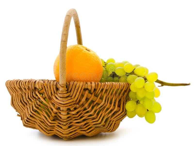 Traube und Orange stockbilder