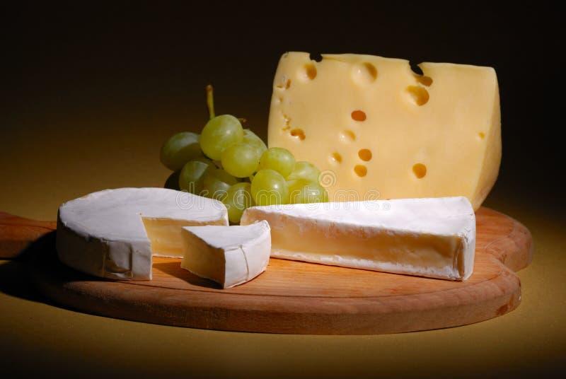 Trauben und Käse stockfotografie