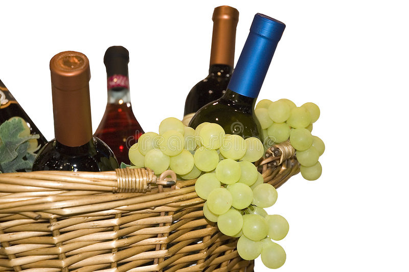 Trauben und Wein stockfotografie