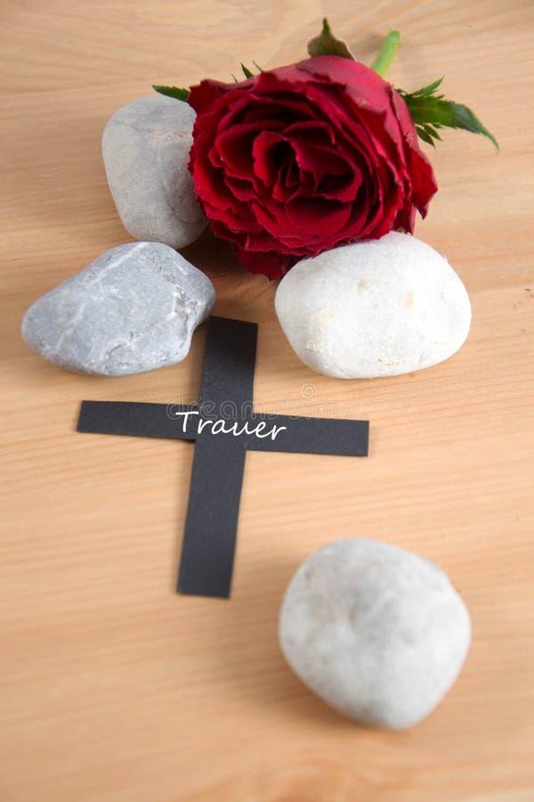 Trauer - het Duits voor dolefulness stock foto