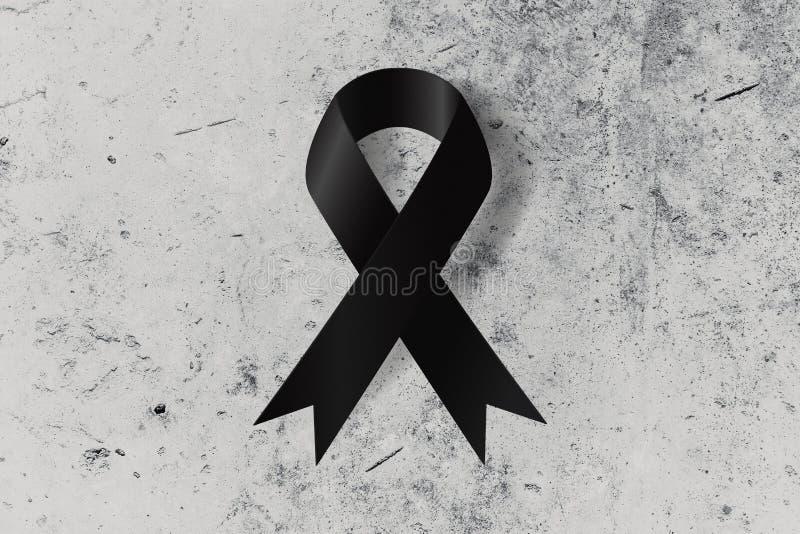 Trauerflor Auf Dem Grundsymbol Stockbild - Bild von konzept, zeichen ...