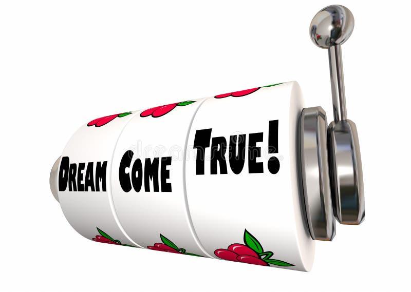 Traum gehen Wunsch-Erfüllungs-Hoffnungs-Wunsch-Spielautomat in Erfüllung lizenzfreie abbildung