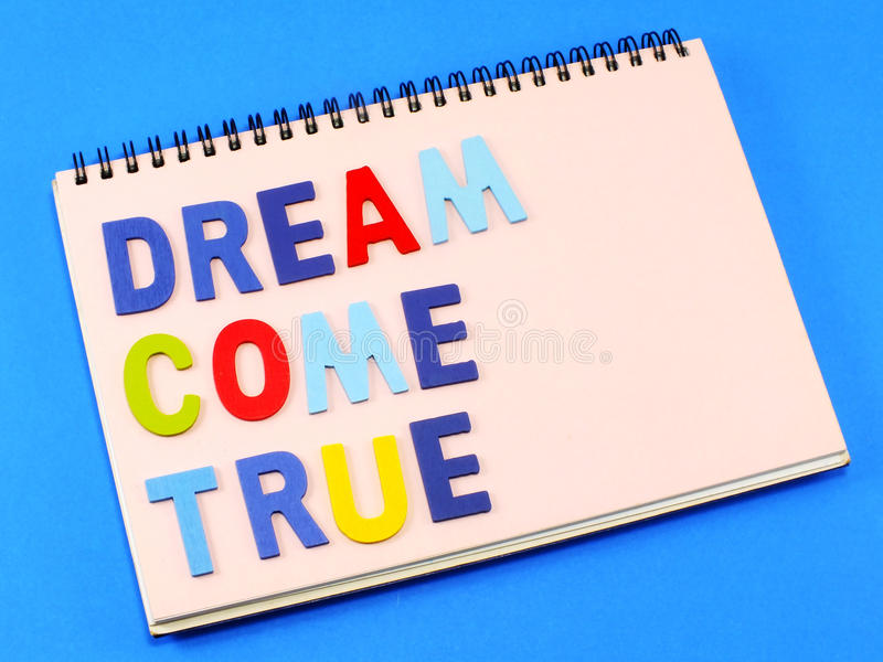 Traum kommen zutreffend lizenzfreies stockbild