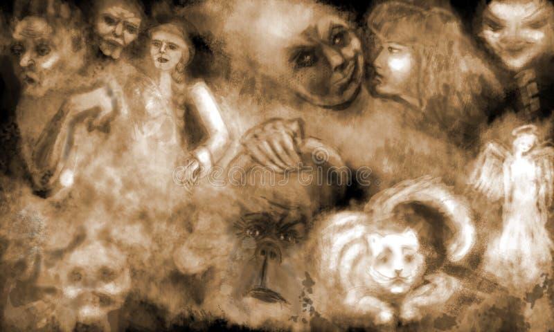 Traum mit ghosts2 stock abbildung