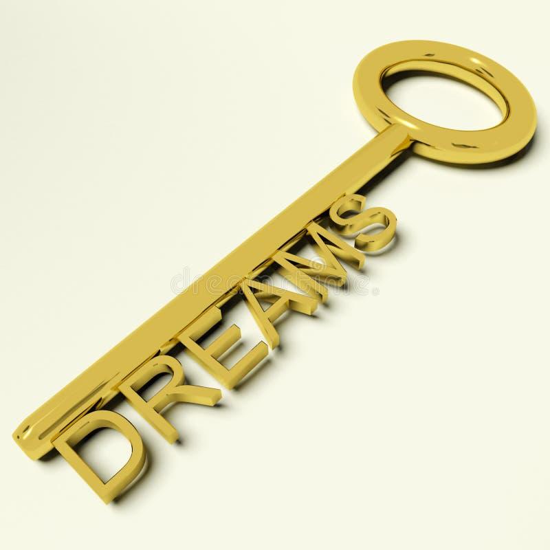 Traum-Schlüsseldarstellungshoffnungen und Ehrgeiz stock abbildung