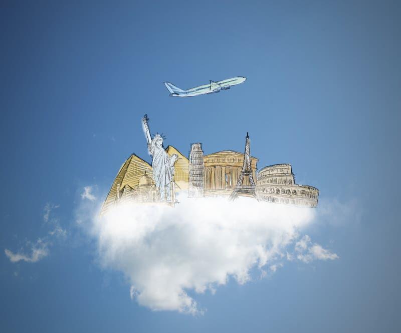 Traum zu reisen stockbilder