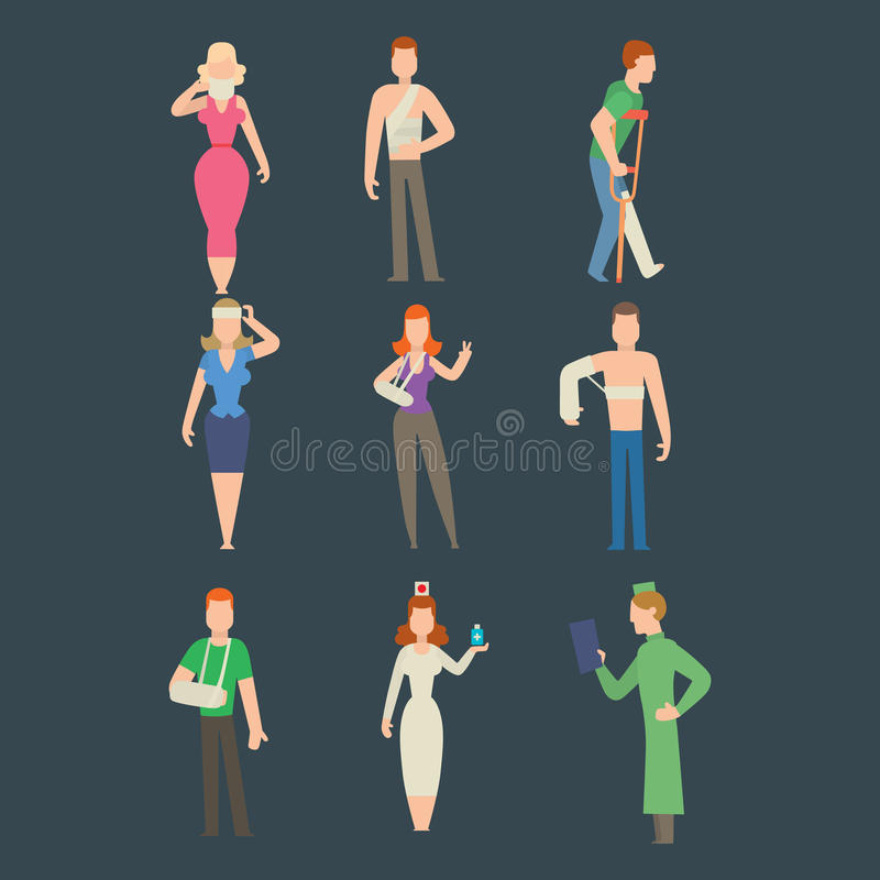 Download Trauma Accident And Human Body Safety Vector People Silhouette Stock Vector - Image: 83720828