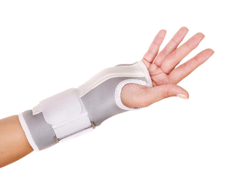 Download Trauma of wrist in brace. stock image. Image of stretching - 20686143