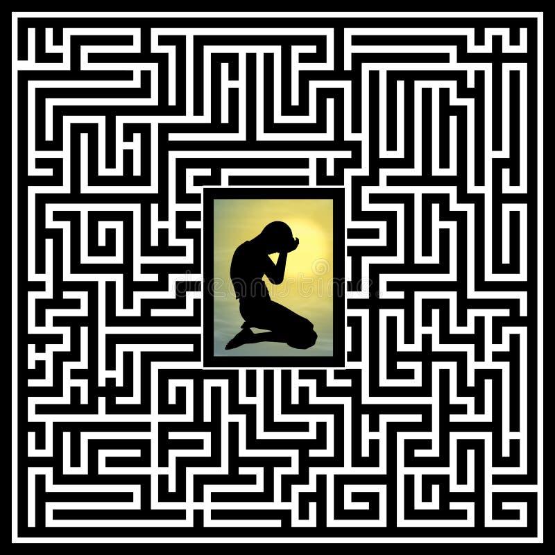 Traumatismo emocional e psicológico ilustração royalty free