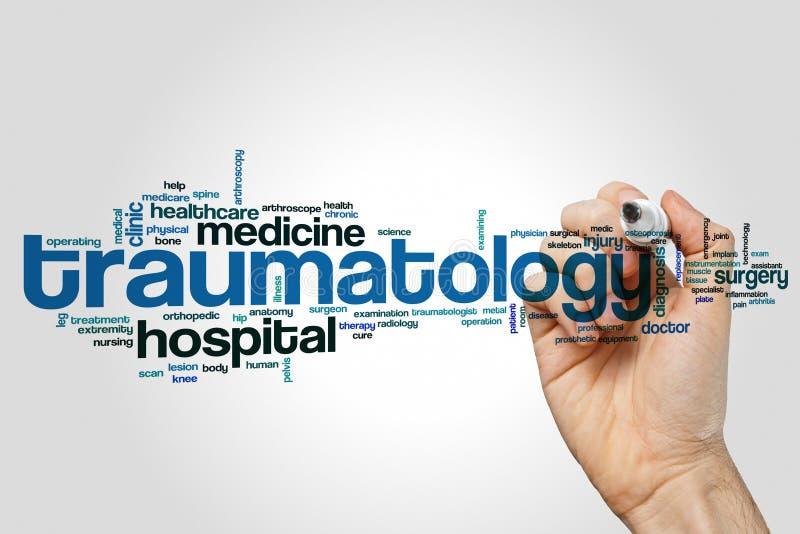 Traumatology word cloud royalty free stock photo