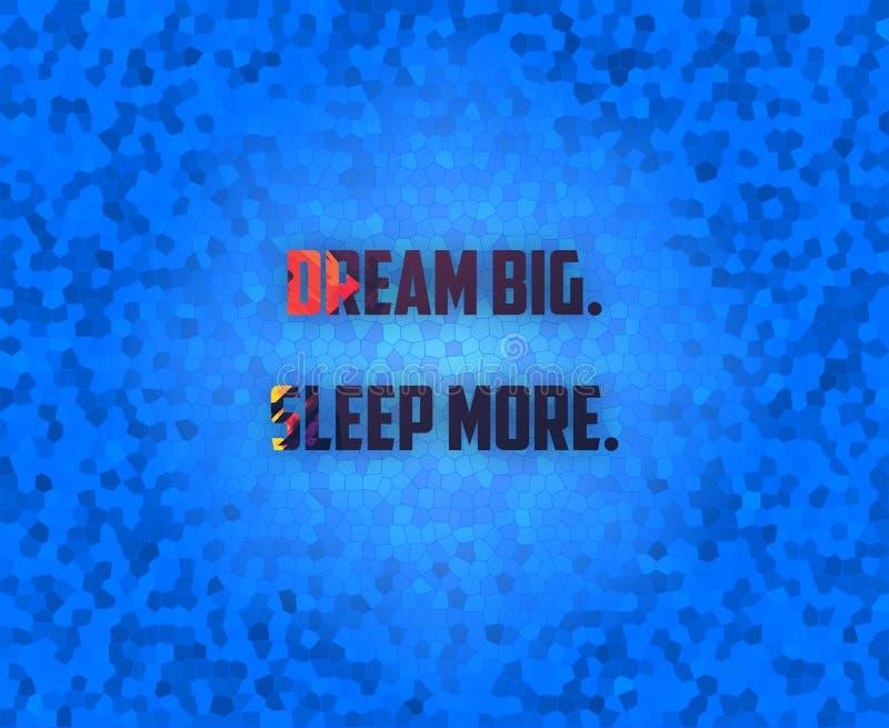 Traumgroßes Schlafen Sie mehr lizenzfreies stockfoto