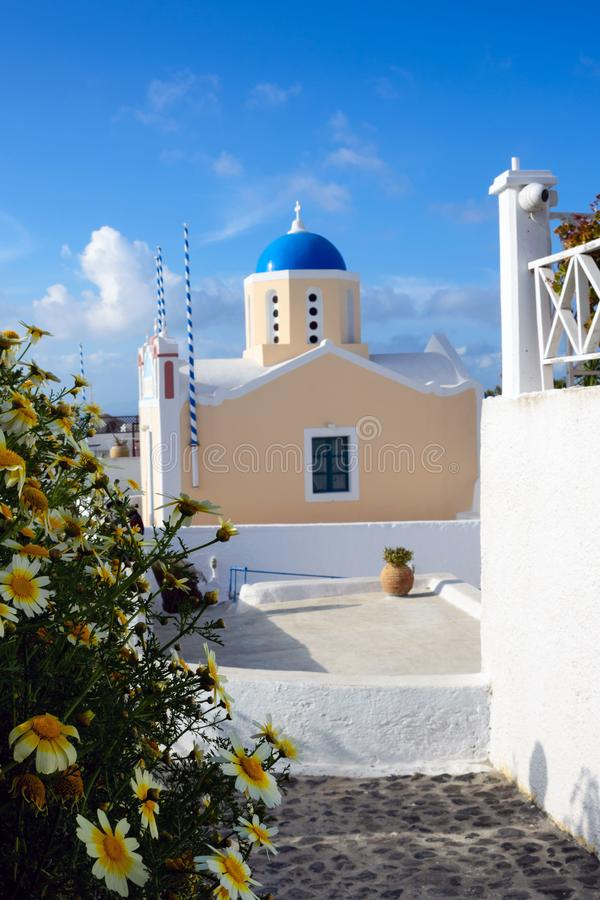 Trauminsel von Santorini, Griechenland stockbilder